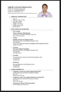best resume format 2015 philippines holiday sle application letter for elementary applicant philippines resumes design