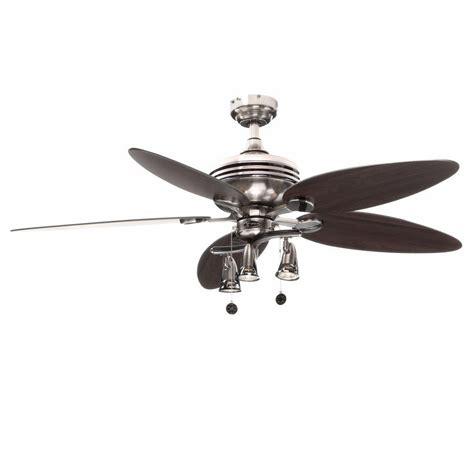 metal fans at home depot westinghouse xavier ii 52 in brushed nickel ceiling fan