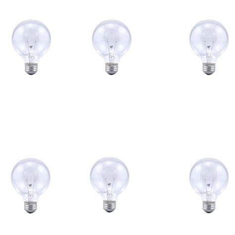 Bathroom Globe Light Bulbs by 6pk Sylvania Soft Clear Globe Light Bulbs Bathroom
