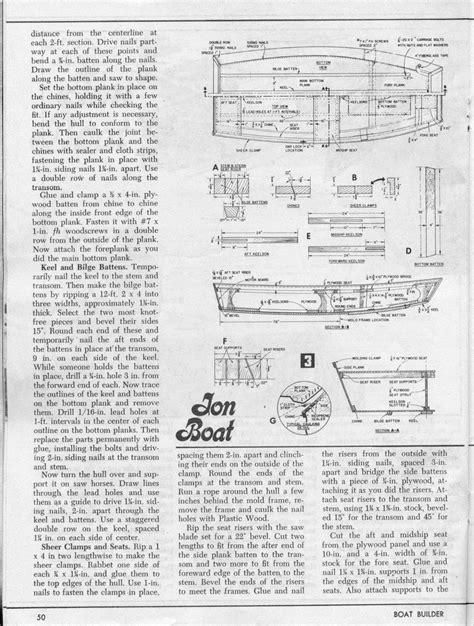 How To Make A Jon Boat Faster by Boat Plans 201305