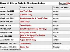 Bank Holidays 2024 in the UK
