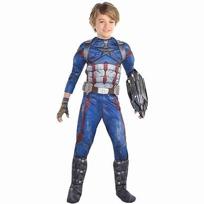 Captain Avengers America Costume Infinity War Boys