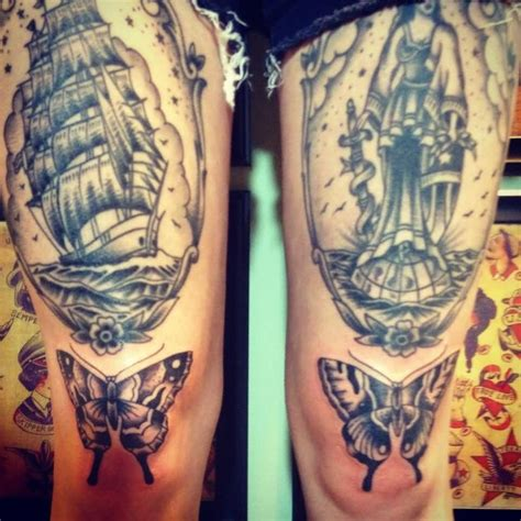 knee tattoos images pictures tattoos hunter
