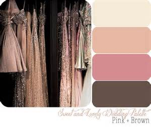 wedding color palette sweet and lovely wedding color palette pink brown sweet and lovely