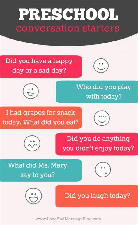 quick preschool conversation starters  images
