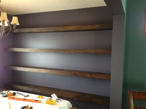 wall  wall floating shelves  dining room shanty  chic