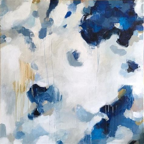 Abstract Black And Blue Painting by Another Way Blue Canvas