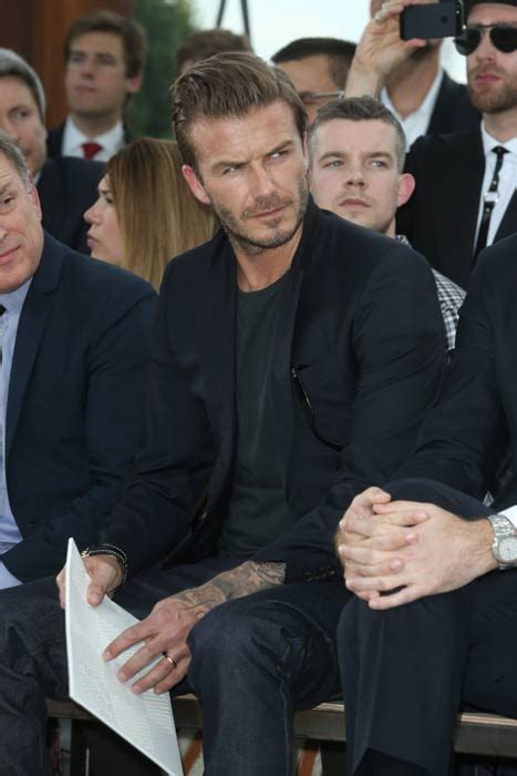David Beckham is front row at Louis Vuitton | HELLO!