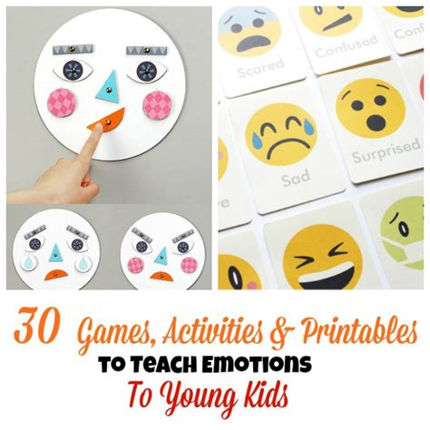 30 activities and printables that teach emotions for 783 | Games and Activities about Emotions for Kids