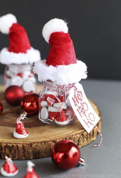 santa hat jars blooming homestead
