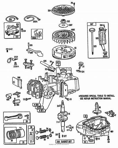 Briggs Stratton Diagram Oil Fill Piston Sump