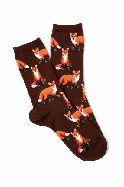 Socks Fox Pattern Sox Pair Fall