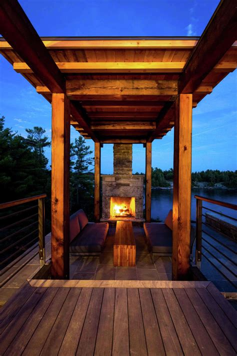 modern timber country cottage  georgian bay idesignarch interior design architecture