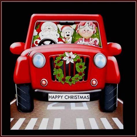 christmas jeep card christmas shopping jeep 3d shape card kit for men