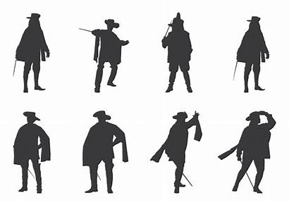 Musketeers Royal Silhouette Silhouettes Vector Musketeer Nutcracker