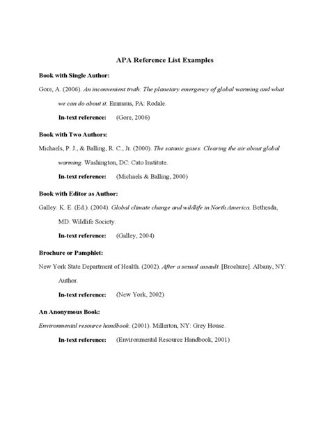 reference list template   templates   word