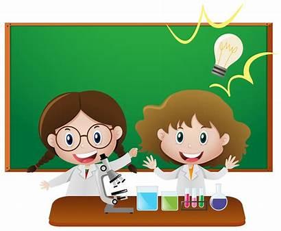 Science Filles Classe Deux Classroom Aula Sciences