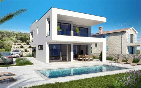 Moderne Häuser Mit Pool Kaufen by Insel Krk Kvarner Moderne Villa Mit Swimmingpool