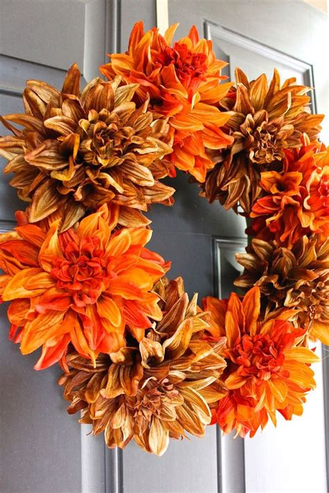 simple fall wreath hometalk easy fall wreath in 5 minutes