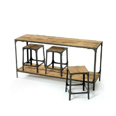 conference table desk combination american retro dinette loft industry conference iron wood