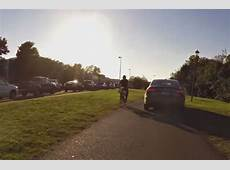 Driver uses bike path in Va, avoids rushhour traffic