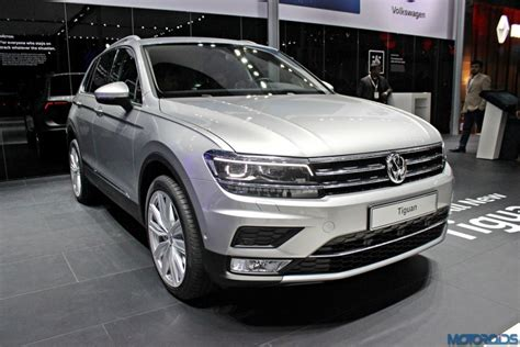 volkswagen tiguan white 2016 auto expo 2016 is the all new tiguan the star of the