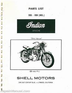 Indian Apache Parts Manual 1955