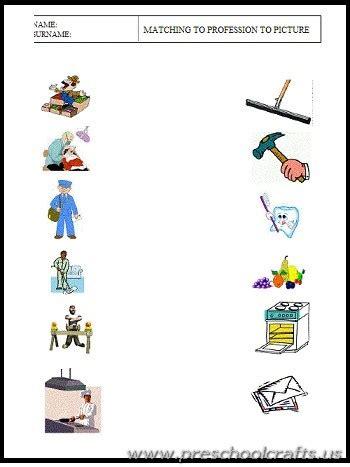 Community Helpers Printable Worksheets For Preschoolers  Preschool Crafts