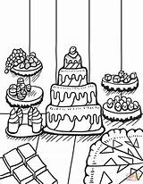 Coloring Dessert Template Brownies Desserts Zentangle Templates sketch template