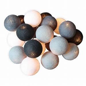 Guirlande Boule Coton : guirlande boule lumineuse ~ Teatrodelosmanantiales.com Idées de Décoration
