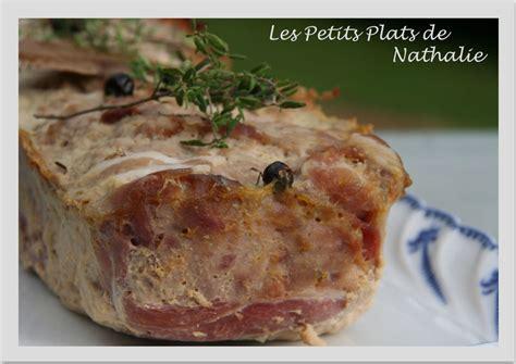 terrine de faisan les petits plats de nathalie