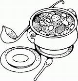 Soup Coloring Bowl Drawing Tureen Yummy Printable Pot Getdrawings Popular Getcolorings Coloringhome Results Soups sketch template