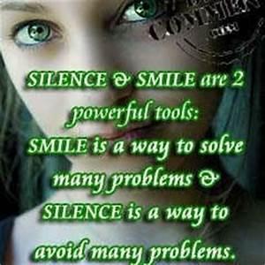 Silence & smile - DesiComments.com