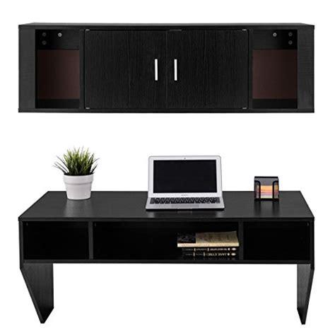giantex wall mounted floating desk computer table desk hutch set study living room furniture