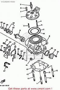 Yamaha Yz250-1 1991  M  Usa Cylinder Head