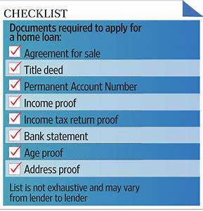 paperwork needed to secure a home loan livemint With loans no documents required