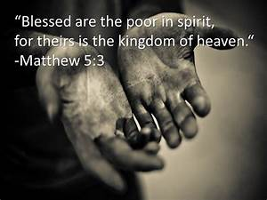 "Word Of God: THE BEATITUDES - ""Blessed are the poor in ..."