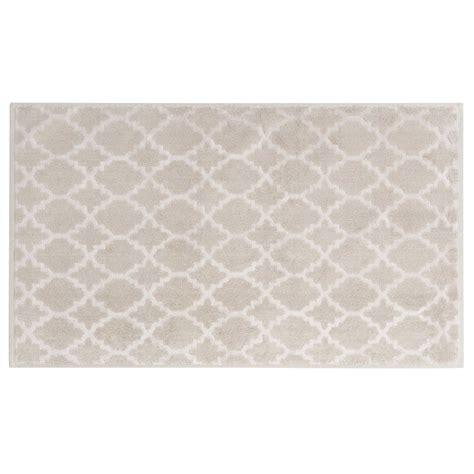 tapis de sortie de tapis de bain beige 224 motifs 80x50cm nestor maisons du monde