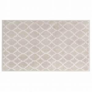 tapis de bain beige a motifs 80x50cm nestor maisons du monde With tapis de bain beige