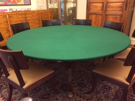 Felt Poker Tablecloth Green Game Table Cover Fit 72