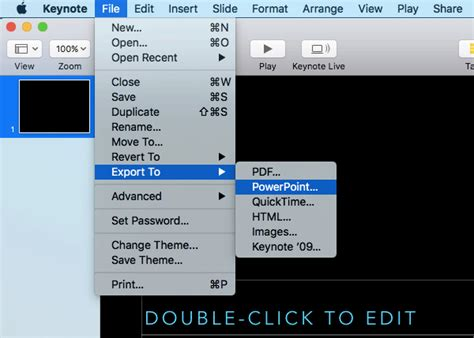 open apple keynote key file  powerpoint