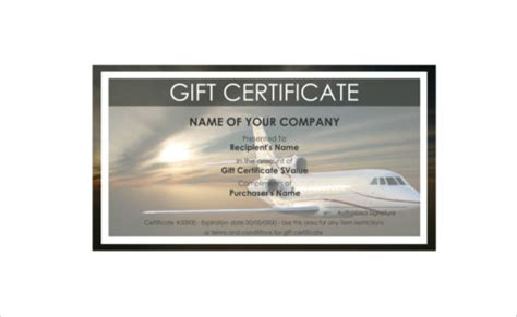 Vacation Gift Certificate Template Costumepartyrun - Vacation gift certificate template free