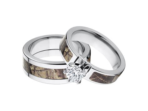 Camo Wedding Ring Sets His And Hers, His And Hers Camo