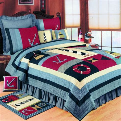 nautical quilt sets atlantic isle nautical quilt bedding set the frog and