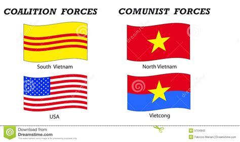 Vietnam War Flags And Coalitions Stock Vector