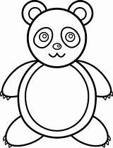 Panda Outline Clipart Clip Bear Kilos Makataong Bears Cartoon Drawing Drawings Outlines Alice Library Wonderland Arts Pandas Visiter Transparent Copay sketch template