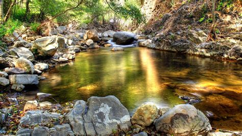 mountain river rock pool ultra hd wallpaper