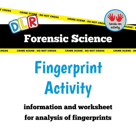 Forensic Science Free Worksheet Fingerprint Forensic