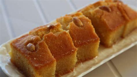 top 10 cuisines in the semolina cake with lemon syrup kalo prama recipe sbs food