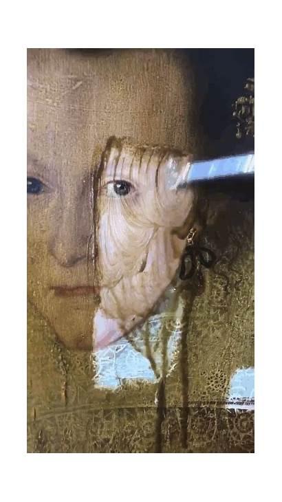 Restoration Painting Paintings Mona Lisa Varnish Gifs